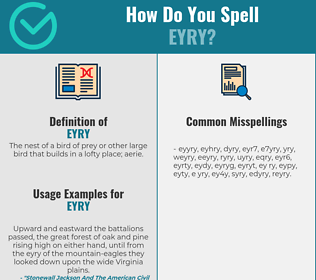 Correct spelling for eyry