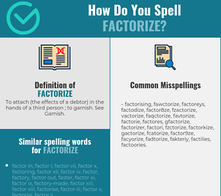 Correct spelling for factorize