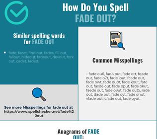 Correct spelling for fade out