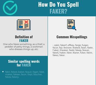 Correct spelling for faker