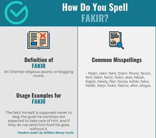 Correct spelling for fakir