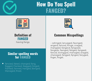 Correct spelling for fanged