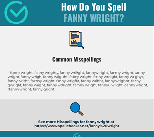 Correct spelling for fanny wright