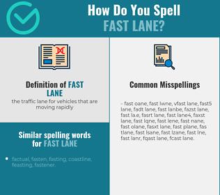 Correct spelling for fast lane