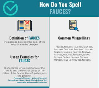 Correct spelling for fauces