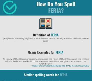 Correct spelling for feria