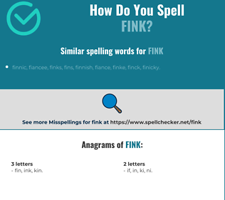 Correct spelling for fink