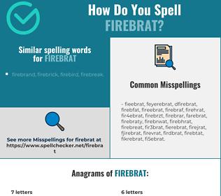 Correct spelling for firebrat