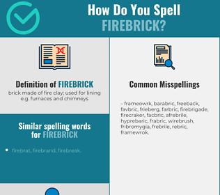 Correct spelling for firebrick
