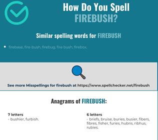 Correct spelling for firebush