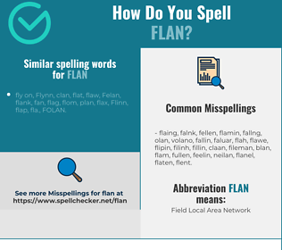 Correct spelling for flan