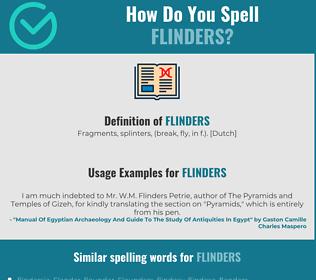 Correct spelling for flinders