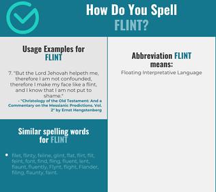 Correct spelling for flint