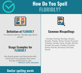 Correct spelling for floridly