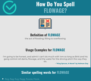 Correct spelling for flowage