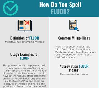 Correct spelling for fluor