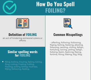 Correct spelling for foiling