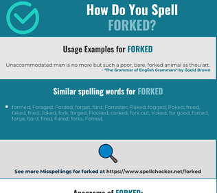 Correct spelling for forked