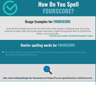 Correct spelling for fourscore