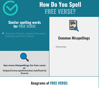 Correct spelling for free verse