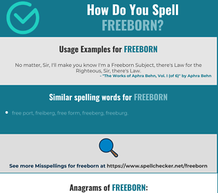 Correct spelling for freeborn