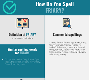Correct spelling for friary