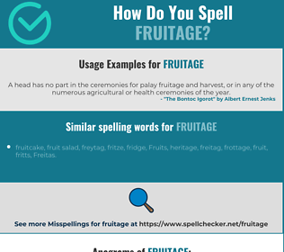 Correct spelling for fruitage