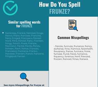 Correct spelling for frunze