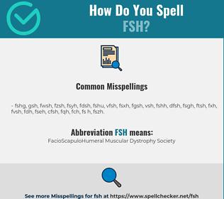 Correct spelling for fsh