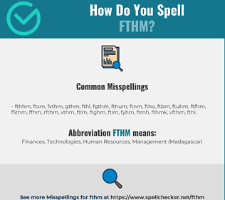 Correct spelling for fthm