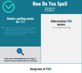 Correct spelling for fug