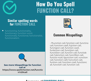 Correct spelling for function call