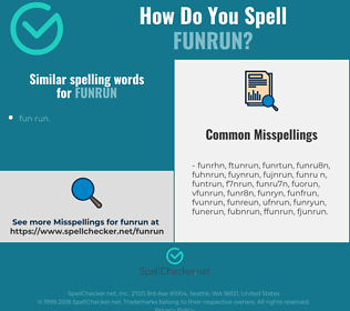 Correct spelling for funrun