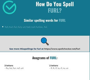 Correct spelling for furl
