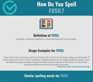 Correct spelling for fusil