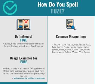 Correct spelling for fuze