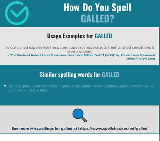 Correct spelling for galled