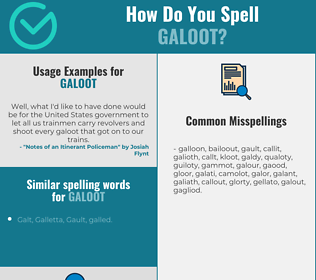 Correct spelling for galoot