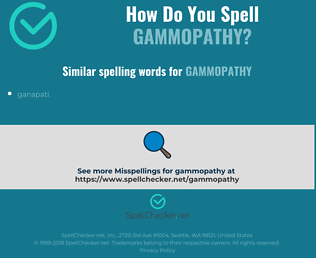 Correct spelling for gammopathy