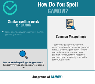 Correct spelling for gamow