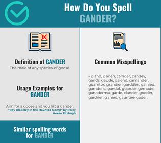 Correct spelling for gander