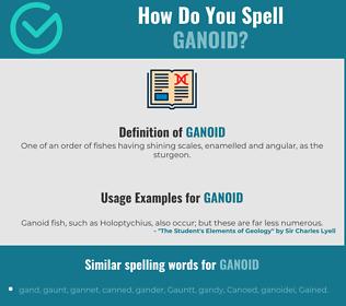 Correct spelling for ganoid