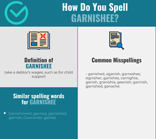 Correct spelling for garnishee