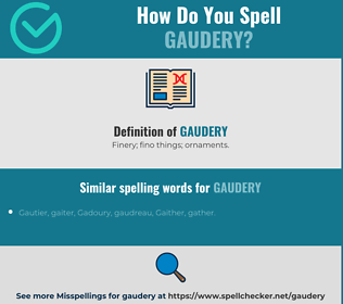 Correct spelling for gaudery