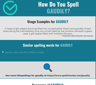 Correct spelling for gaudily