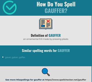 Correct spelling for gauffer