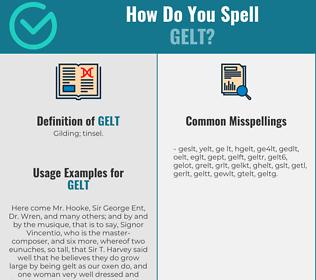 Correct spelling for gelt