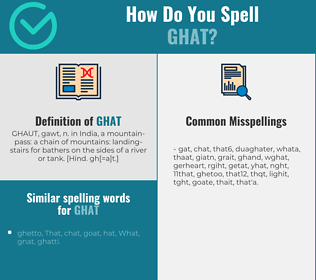Correct spelling for ghat