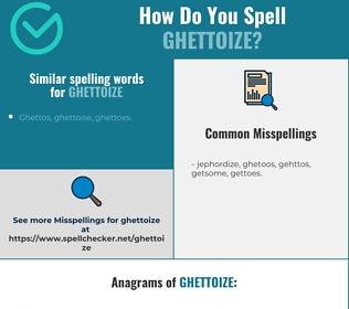 Correct spelling for ghettoize