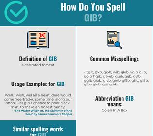 Correct spelling for gib